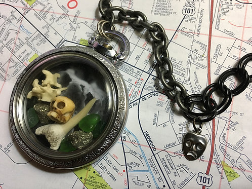CUSTOM: Pocket Watch Curio Necklace – Inspired by Slythehrin