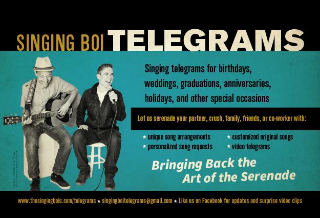 Singing Bois Postcard Design
