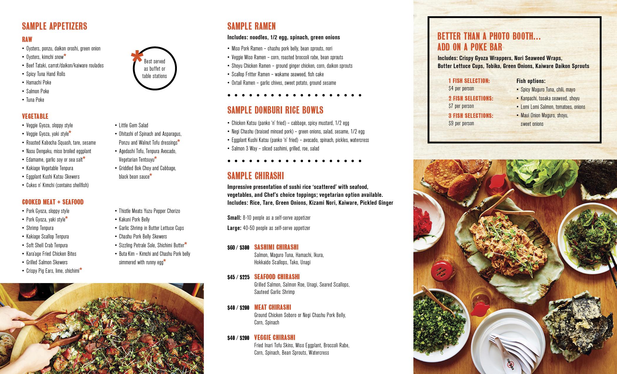 Itani Ramen menu design