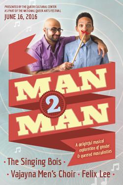 Man2Man postcard design