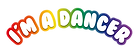 i'm amazing party logo - dancer- print.p