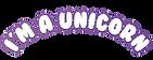 i'm amazing party logo - unicorn- print.