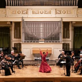 "Festival ""Ibérica"". Virginia Delgado (Spanish dance), Czech Virtuosi. Besední dům (Brno), 2019. Photo: Martin Zeman (3)"