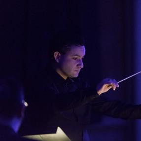 """Pocket Symphonies"". Sven Helbig (composer and electronics), Charlene Farrugia (piano), Malta Philharmonic Orchestra (MPO). Robert Samut Hall (Malta), 2020. Photo: Darren Agius (3)"