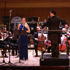 Sara Ureña (flute), Armenian National Philharmonic Orchestra (ANPO). Aram Khachaturian Concert Hall (Yerevan, Armenia), 2019. Photo: David Jotyan (2)