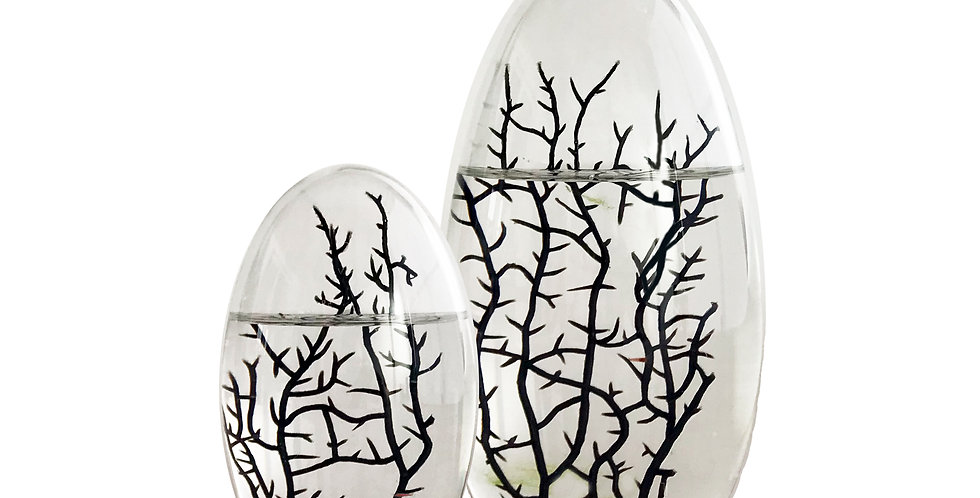 Set: 13 cm Oval Ei und 19 cm Oval Ei