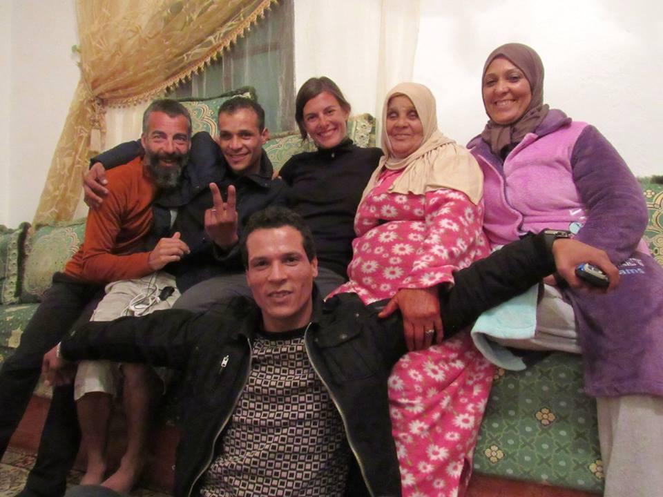 Con la familia Hakim, en Boskoura