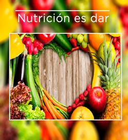 Nutrición es dar