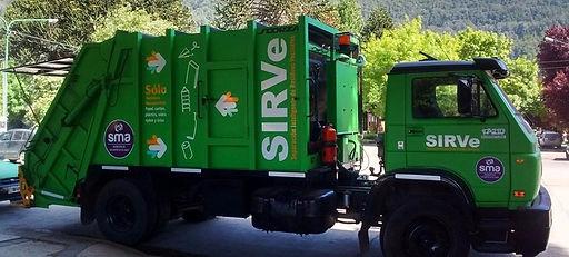 caminión de recolección de basura reciclable