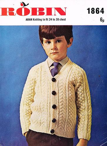 1864R baby vintage knitting pattern PDF