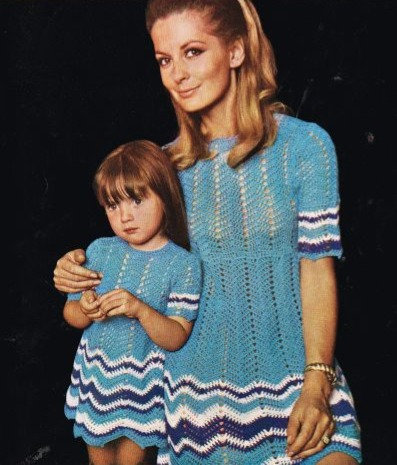 54T mother daughter dress vintage crochet pattern  PDF Download
