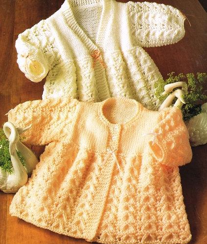 2061l baby matinee coats vintage knitting pattern  PDF Download