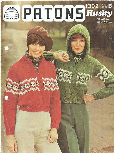1392P vintage knitting pattern PDF