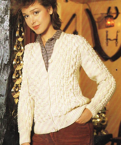 1723h ladies vintage knitting pattern PDF
