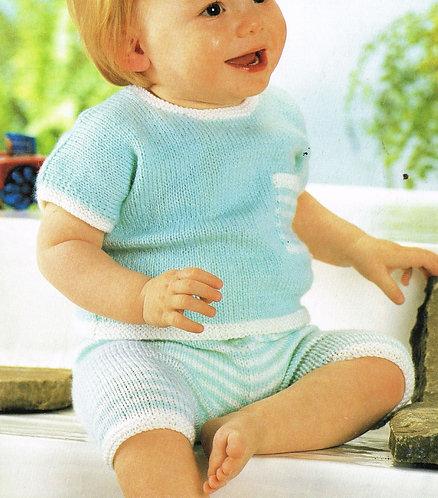 3480S baby vintage knitting pattern PDF