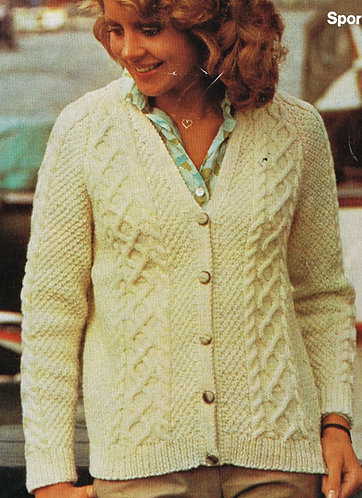5538S Ladies vintage knitting pattern PDF