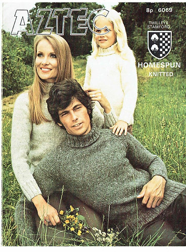 6069T family jumpers vintage knitting pattern  PDF Download