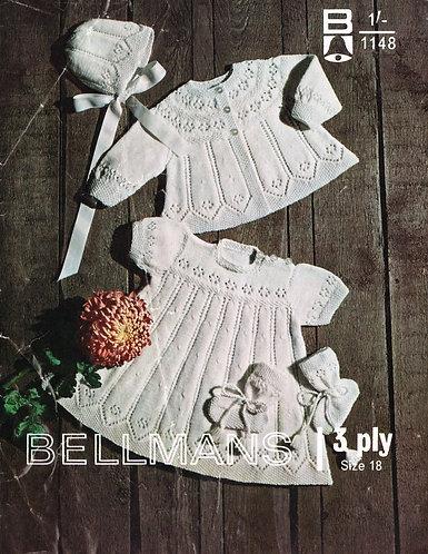 1148Bell baby vintage knitting pattern PDF
