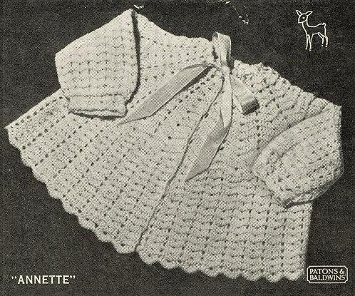 Annette baby vintage crochet pattern PDF