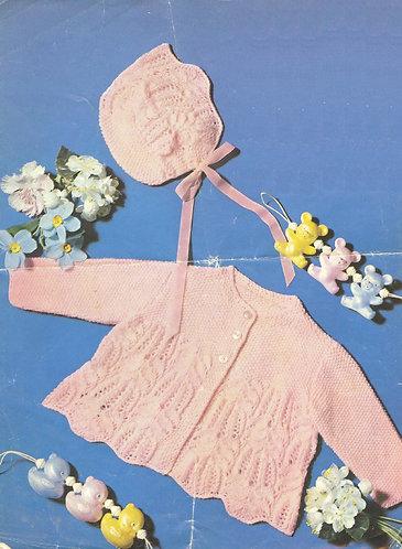 6413P baby vintage knitting pattern PDF