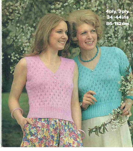 1674 ladies summer tops Vintage knitting pattern  PDF Download