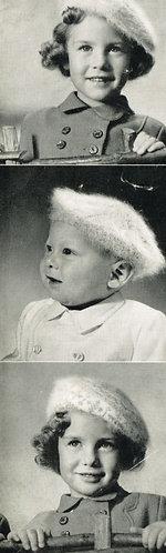 505P baby childrens beret hat vintage knitting pattern  PDF Download