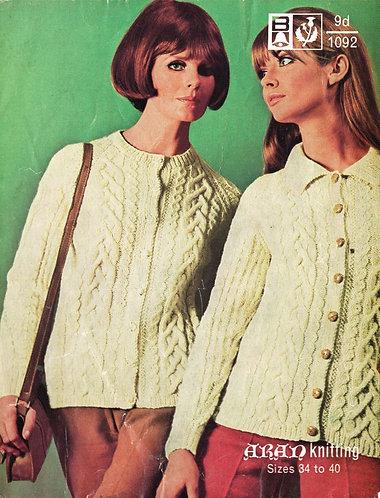 1092Bell ladies vintage knitting pattern PDF
