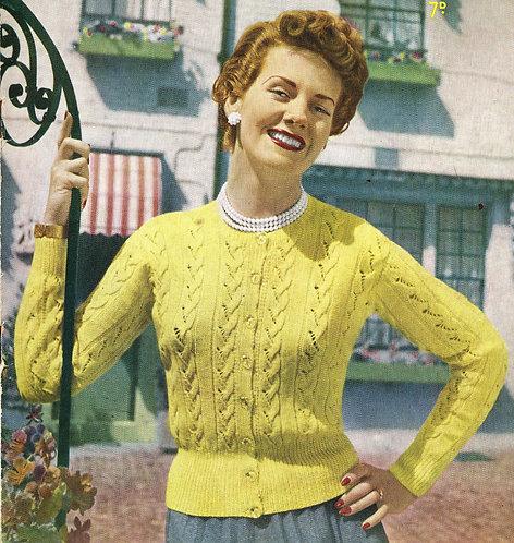 7375S ladies vintage knitting pattern PDF