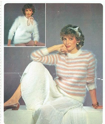 5226P ladies jumper Vintage knitting pattern  PDF Download