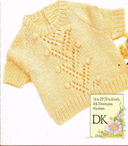 2103H baby jumper vintage knitting pattern  PDF Download