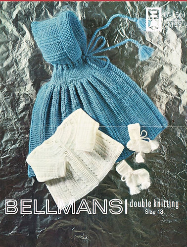 1159Bell baby vintage knitting pattern PDF