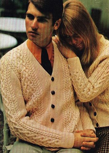 4386E Ladies mens vintage knitting pattern PDF