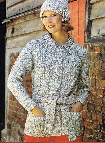 2454P Ladies vintage knitting pattern PDF