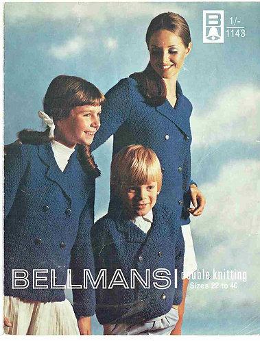 1143Bell childrens vintage knitting pattern PDF