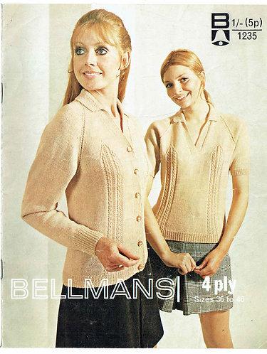 1235Bell ladies vintage knitting pattern PDF