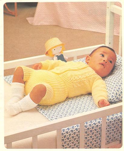 8703P baby cardigan set Vintage knitting pattern  PDF Download