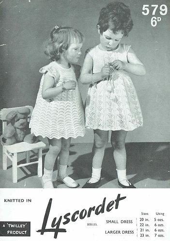 579 baby dresses vintage knitting pattern PDF Download