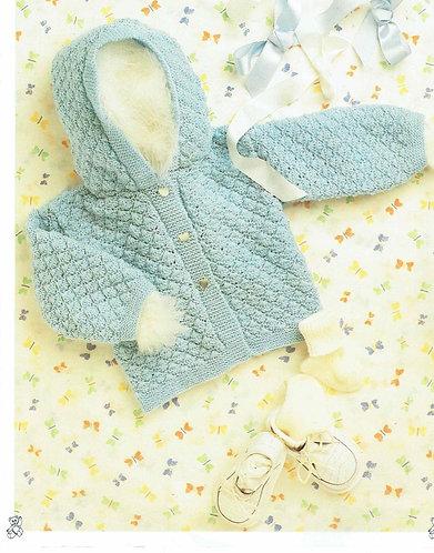 8727P baby cardigan vintage knitting pattern  PDF Download