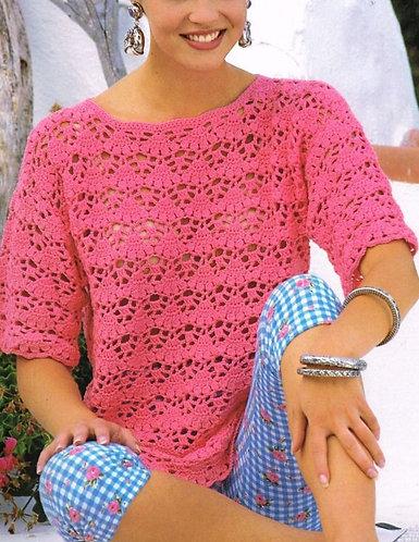 4179H ladies summer top Vintage crochet pattern  PDF Download