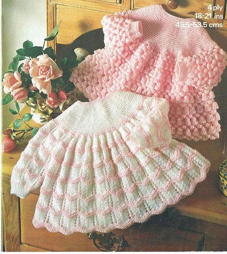1844M baby dress vintage knitting pattern  PDF Download