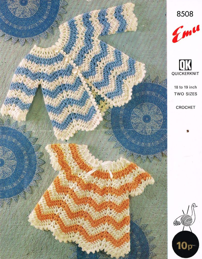 Emu 8508 Baby Dress Matinee Coat Vintage Crochet Pattern Pdf