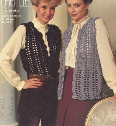 4922 ladies waistcoat Vintage crochet pattern  PDF Download