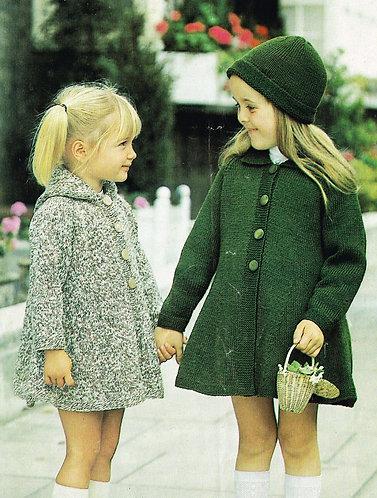 4250S childrens vintage knitting pattern PDF