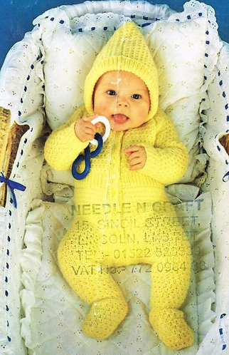 134Ar baby vintage knitting pattern PDF