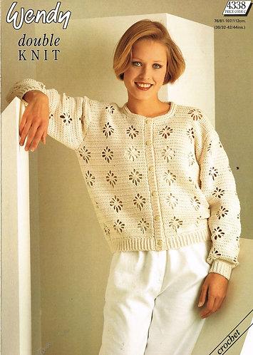 4338W ladies vintage crochet pattern PDF