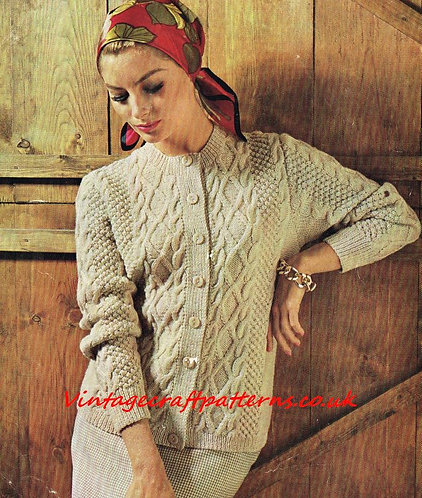 2209S Ladies vintage knitting pattern PDF