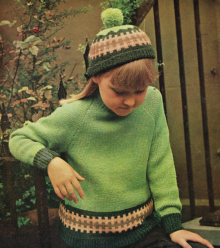 1590r children vintage knitting pattern PDF