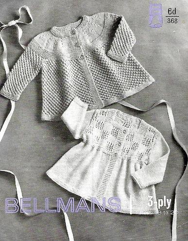 368Bell baby vintage knitting pattern PDF