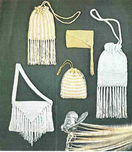 5897T ladies bags vintage knitting and crochet pattern  PDF Download