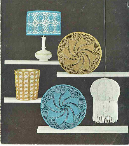 780T cushion cover lampshades vintage crochet pattern  PDF Download